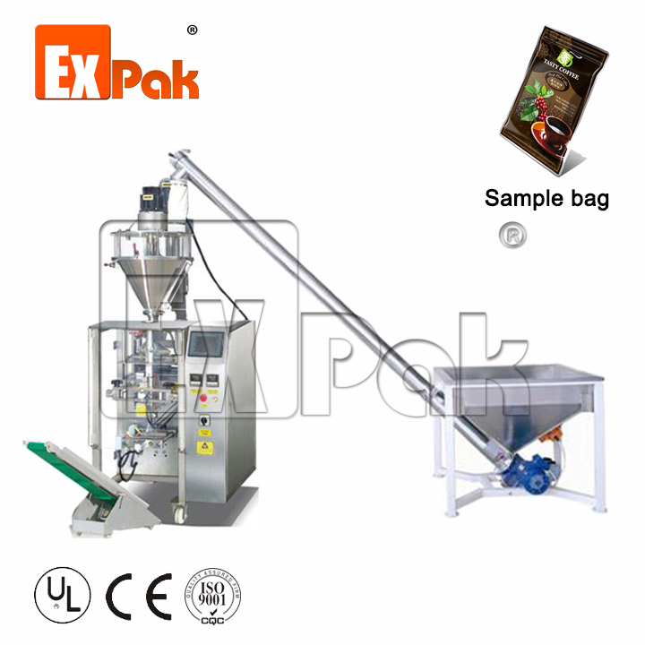 Drip coffee bag packing machine with auger filler for coffee powder bag