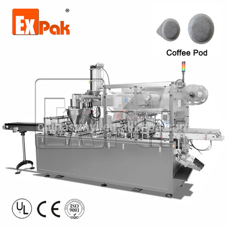 Coffee pod filling sealing machine