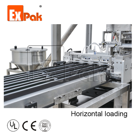 Cup loading system: Horizontal loading