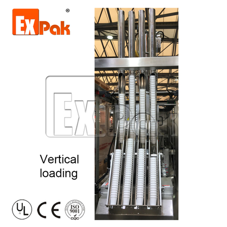 Cup loading system: Vertical loading